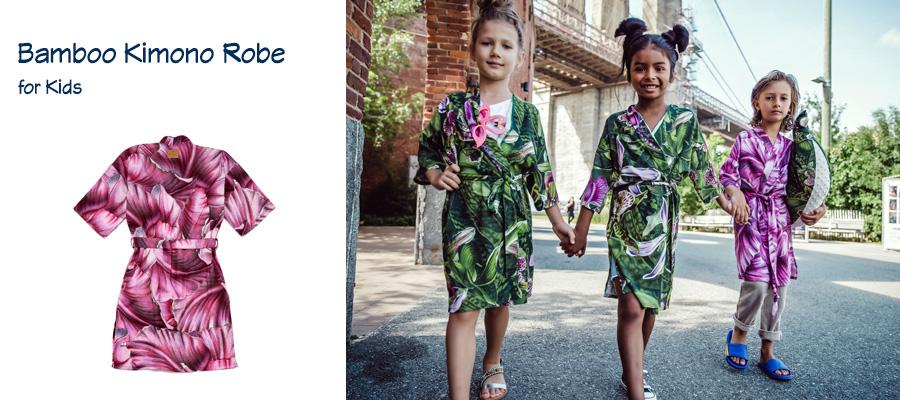 Bamboo Kimono Robe for Kids