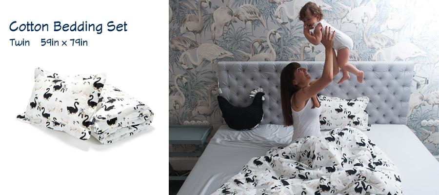 Cotton Bedding Set - Twin